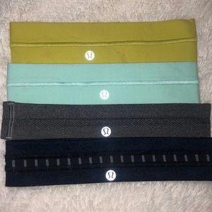 Lululemon headbands set of 4.